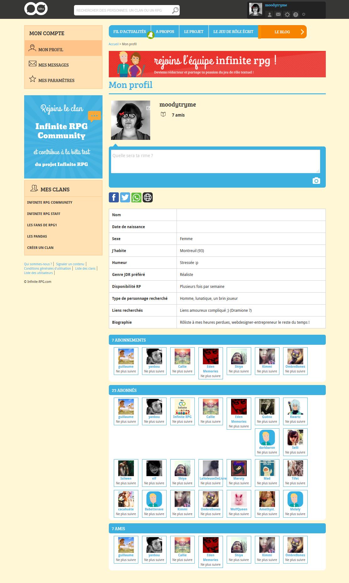 Profil de moodytryme