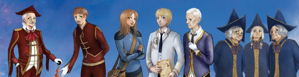 Quelques personnages du JDR Chrysalis